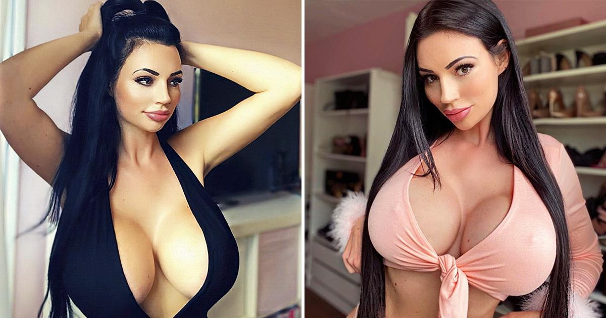 Модель травили в школе из-за худобы, и она увеличила грудь до 6-го размера