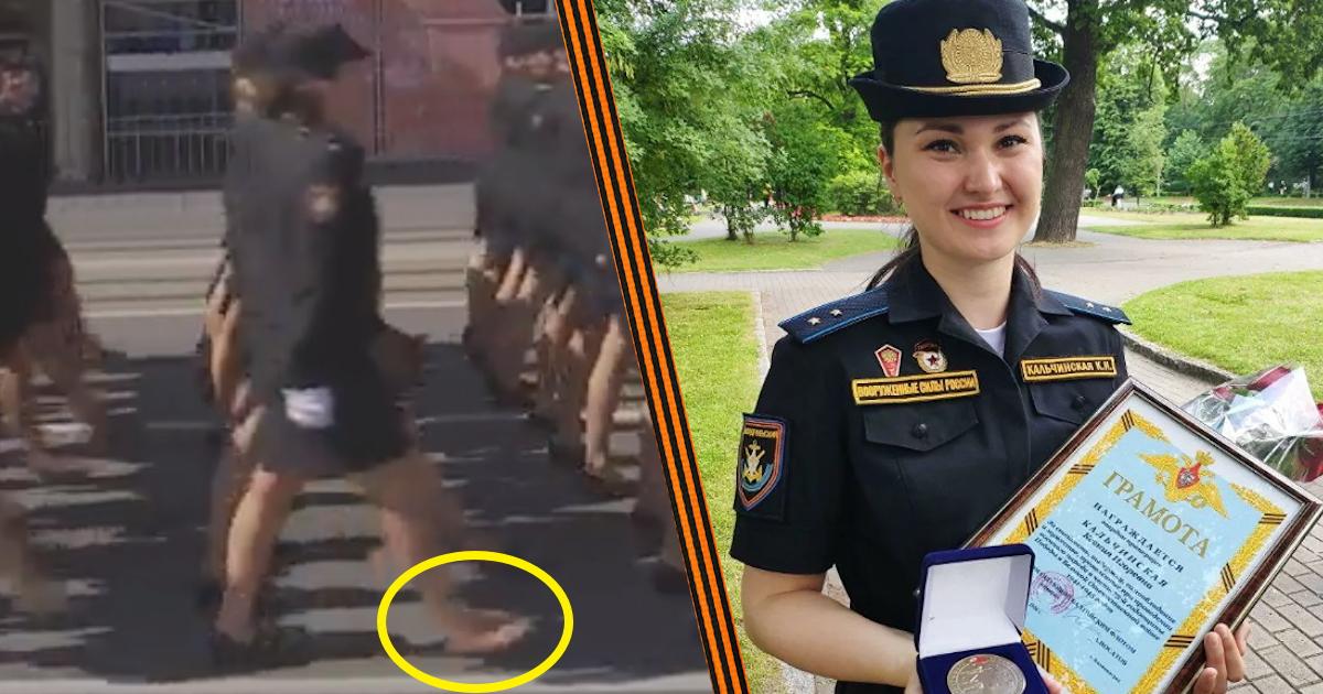 Балтфлот наградил красавицу в одной туфле, спасшую парад Победы