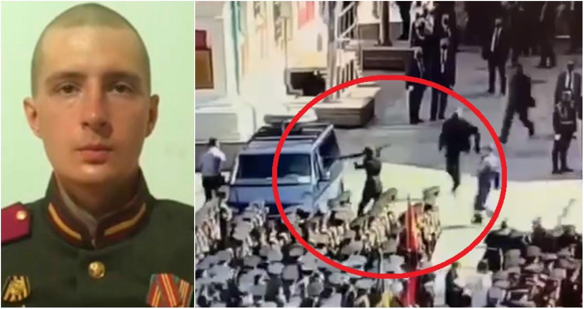 Безумие на параде: разбивший окно ФСО солдат попал на видео