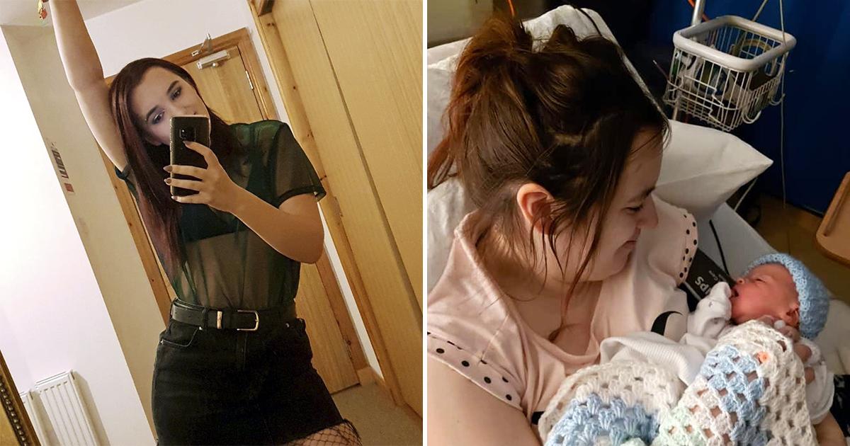 Это все от фастфуда. Девушка узнала о беременности и родила в один день
