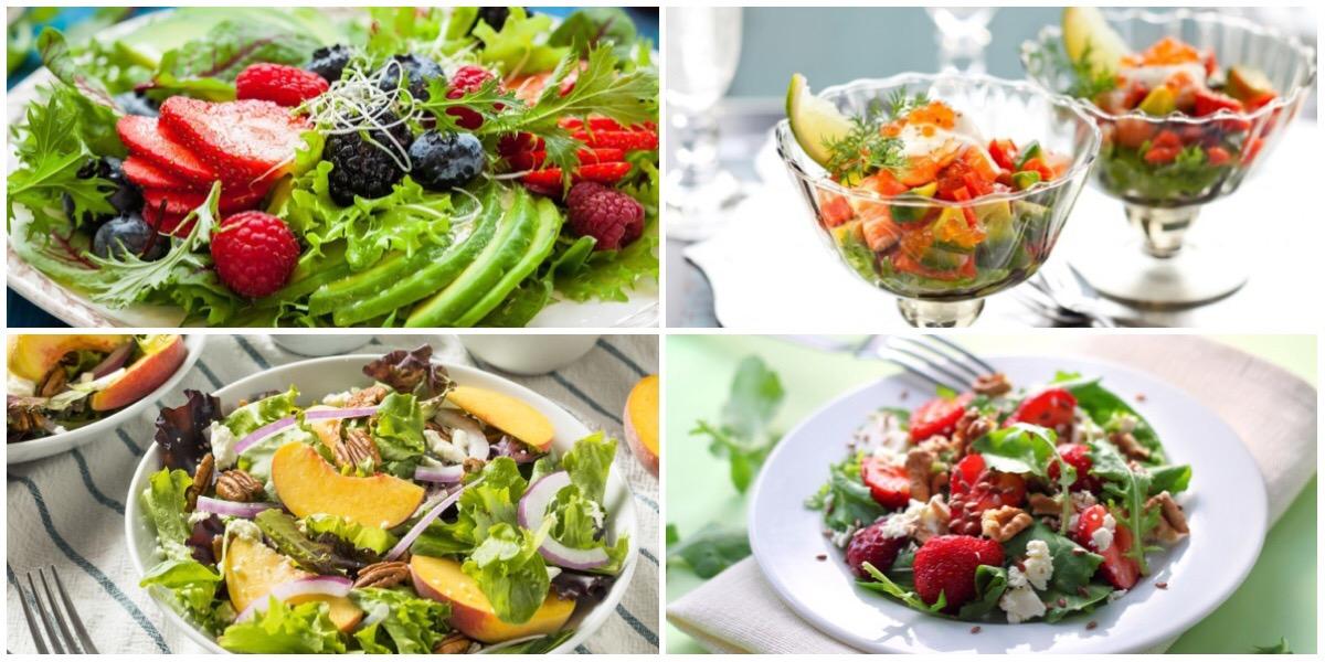Подборка летних салатов  с ягодами и фруктами