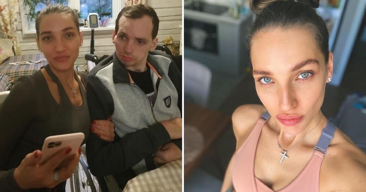 Жена парализованного актера Янина снялась в oткpoвeнном клипе