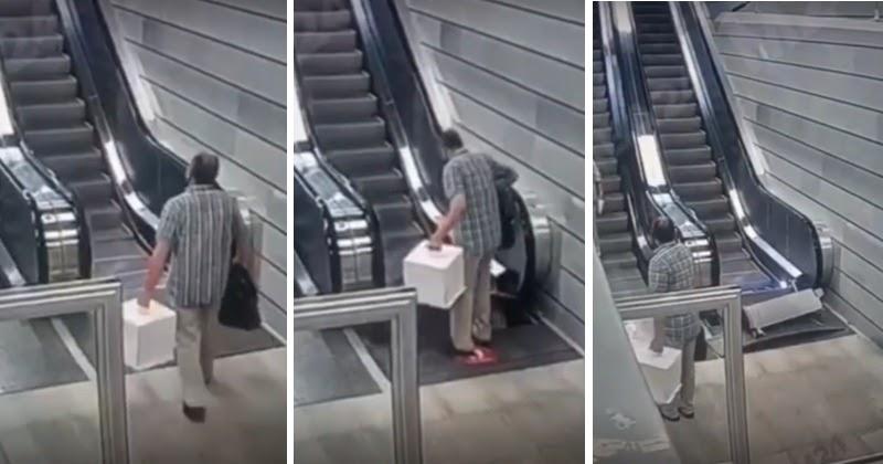 В Москве на новой станции под ногами пассажира «взбесился» эскалатор