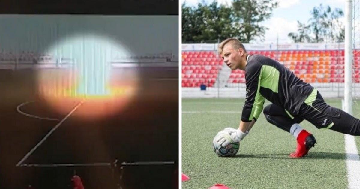 Опубликовано видео, как молния попала во вратаря Заборовского