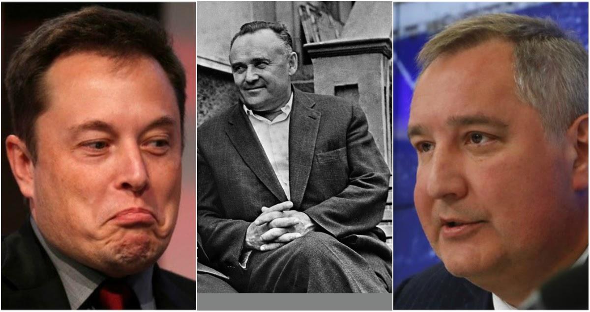 Рогозин сделал замечание Маску из-за его слов о Королеве