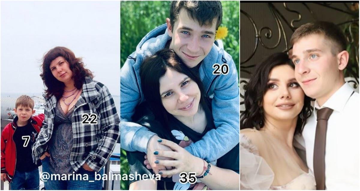 Беременная блогер  Балмашева вышла замуж за своего молодого пасынка