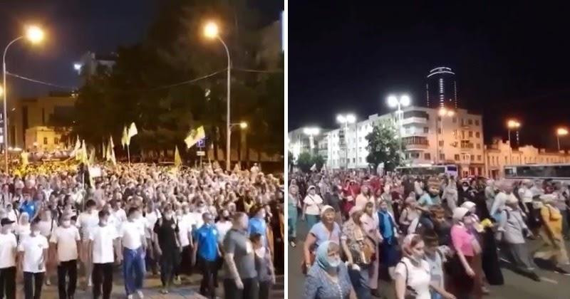 Несмотря на запрет. В Екатеринбурге тысячи вышли на Царский крестный ход