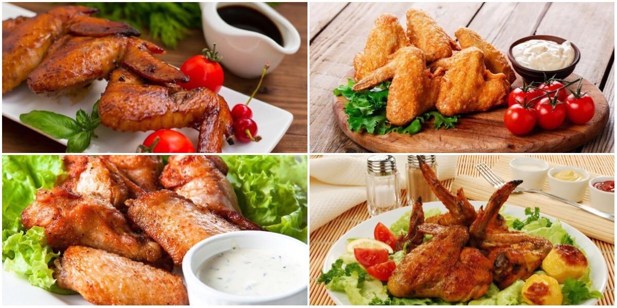 7 разнообразных рецептов куриных крылышек