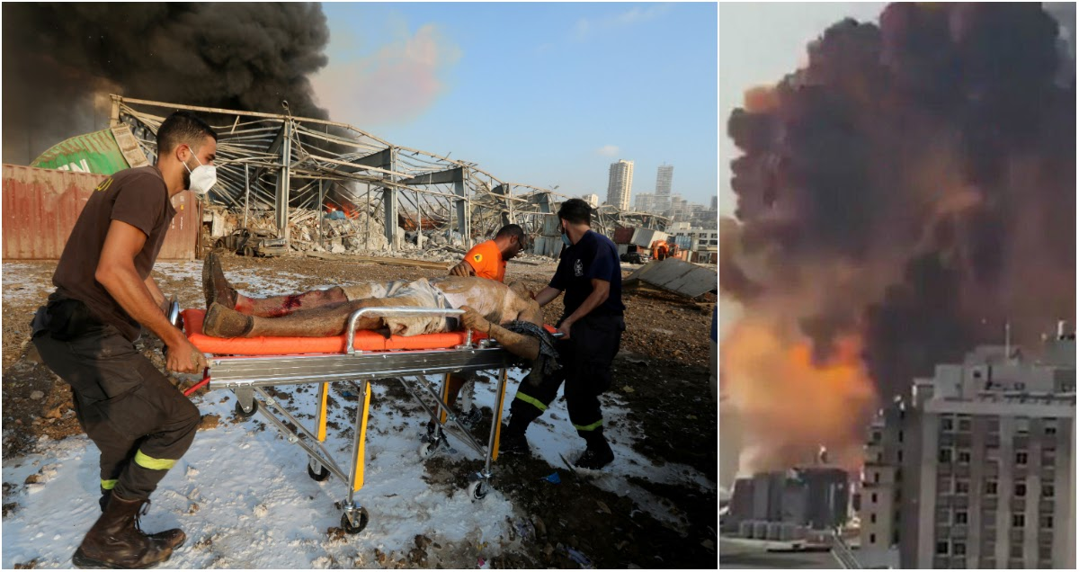 Катастрофа мирового масштаба: тысячи раненых в больницах Бейрута после взрыва