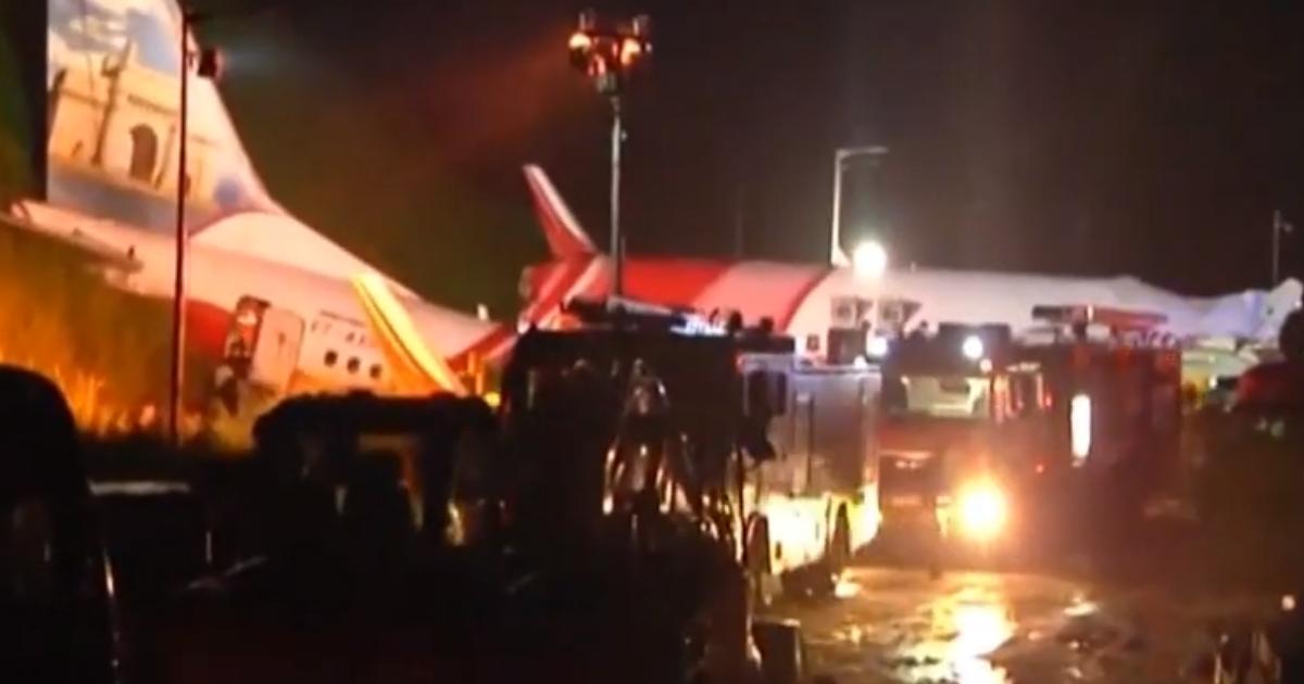 Boeing 737 разбился при посадке в Индии, десятки погибших