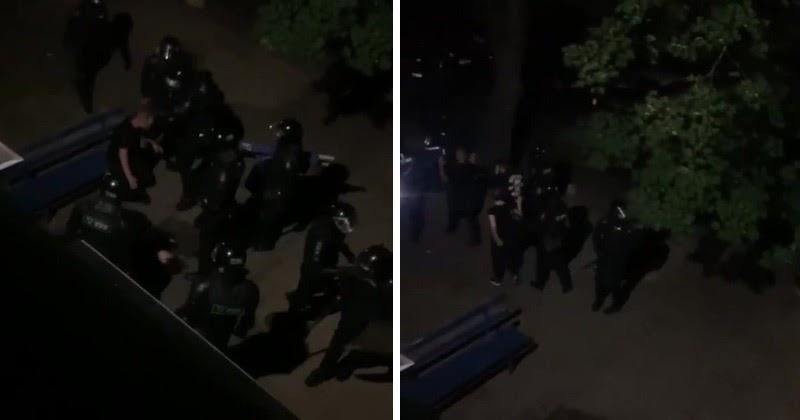 «Дома сидеть надо!» ОМОН в Минске избил парня и девушку в пустом дворе