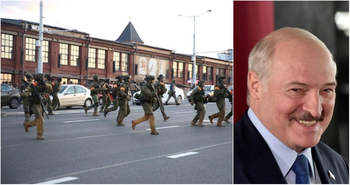 Военный спецназ открыл огонь по протестующим в Минске