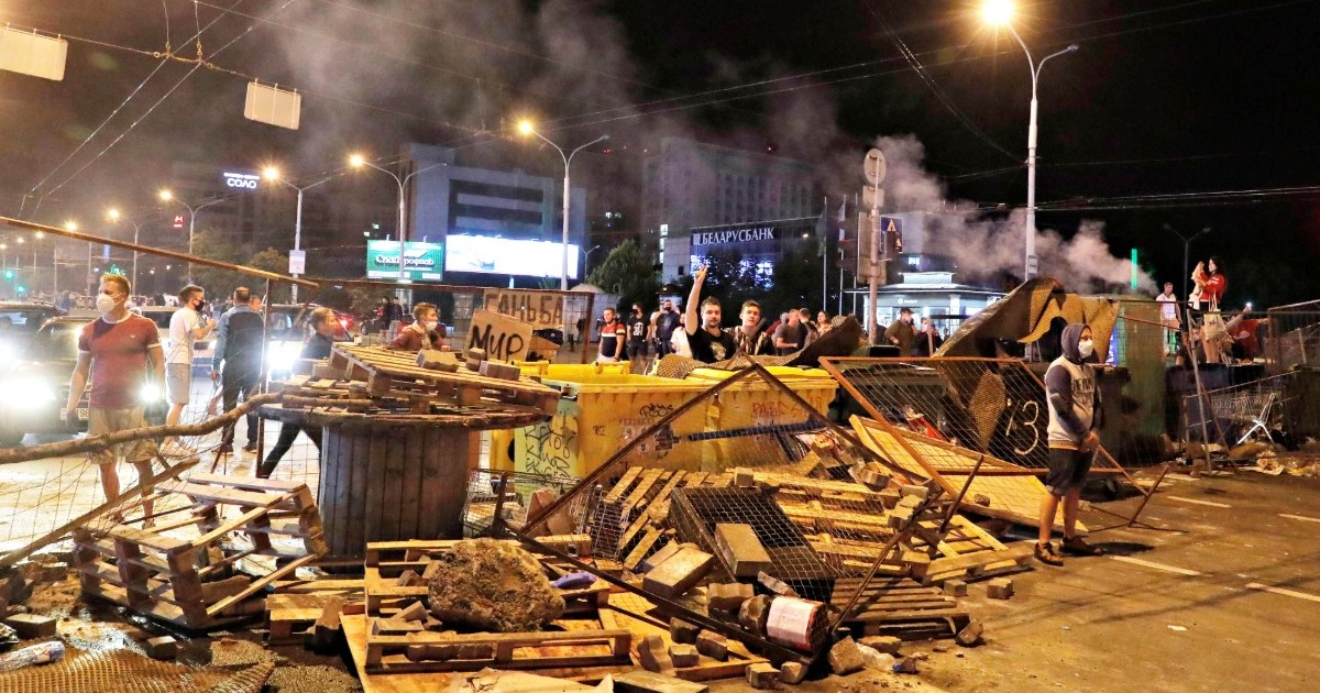 МВД Белоруссии подвело итоги трех дней протестов