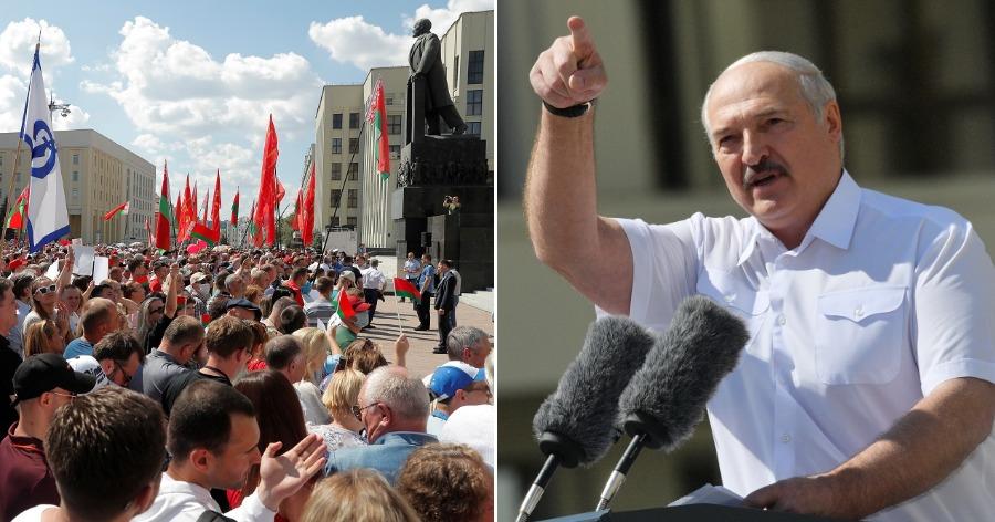 Или я, или гибель. Лукашенко выступил на митинге в свою поддержку