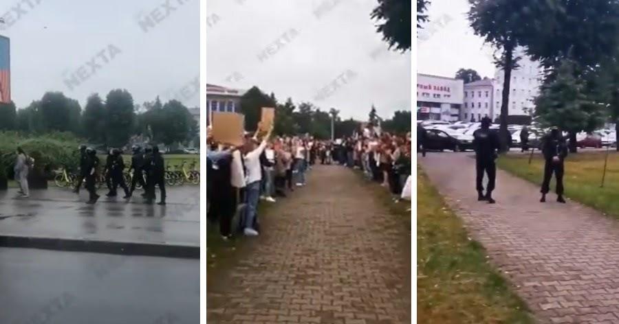 Фото Лукашенко пошел в наступление: ОМОН начал разгонять бастующих рабочих