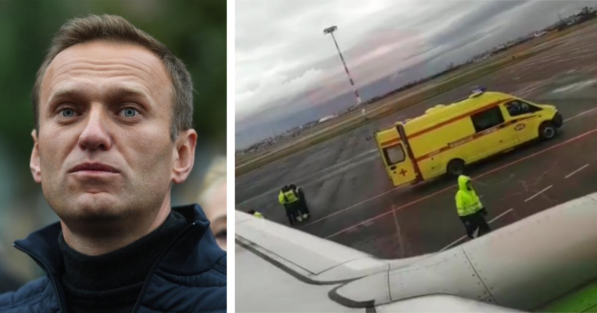 Фото Навальный в реанимации после экстренной посадки самолета
