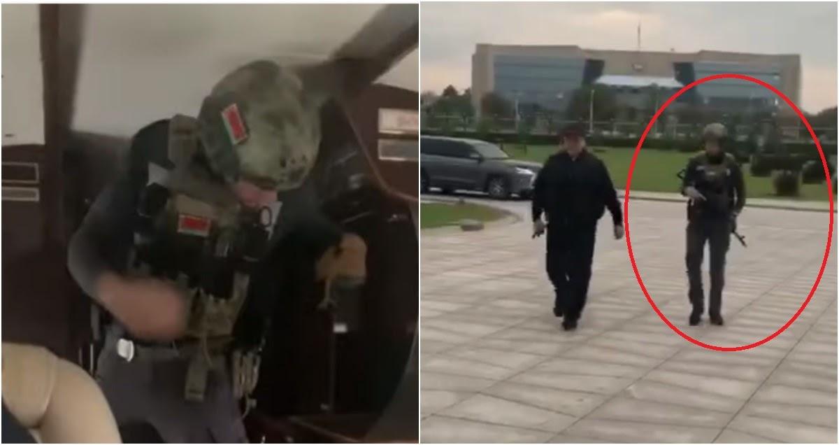 Вооруженного 15-летнего Колю Лукашенко засняли вместе с отцом