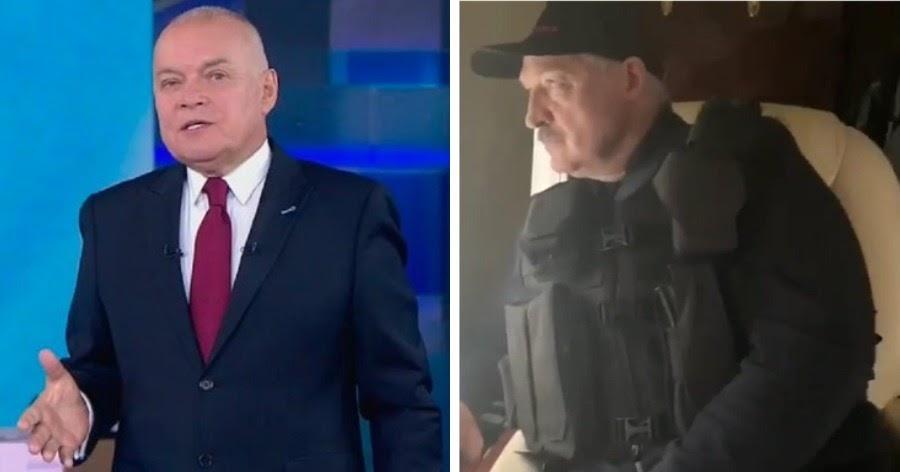 «Это проигрыш». Киселев сравнил взявшего автомат Лукашенко с Путиным