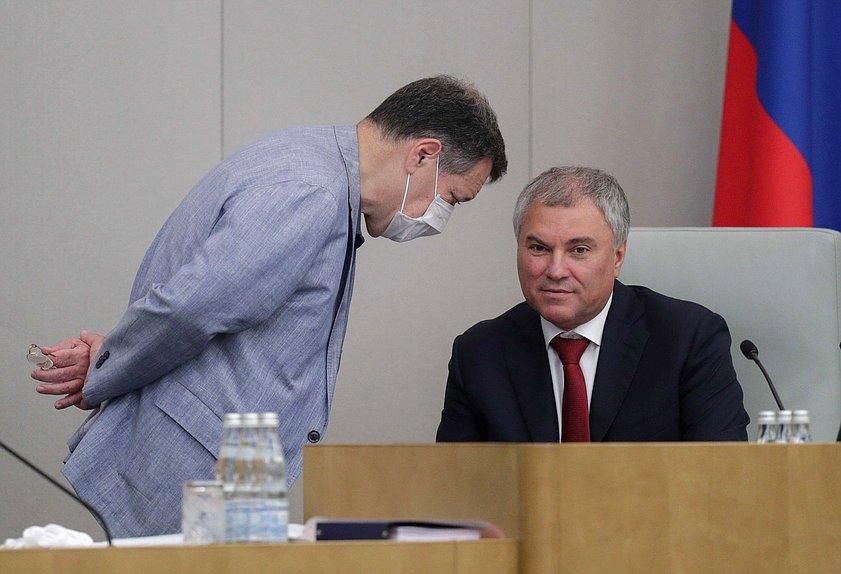 Володин заподозрил провокацию Запада с госпитализацией Навального
