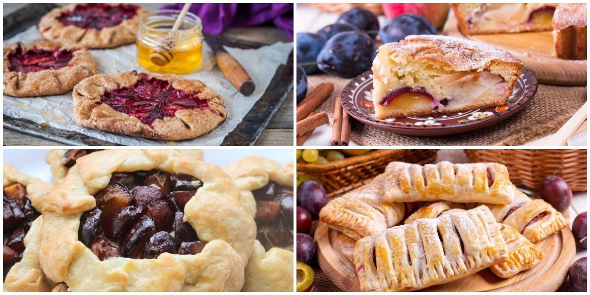 Подборка десертов со сливами