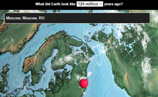 Онлайн-карта покажет, как выглядела планета миллионы лет назад