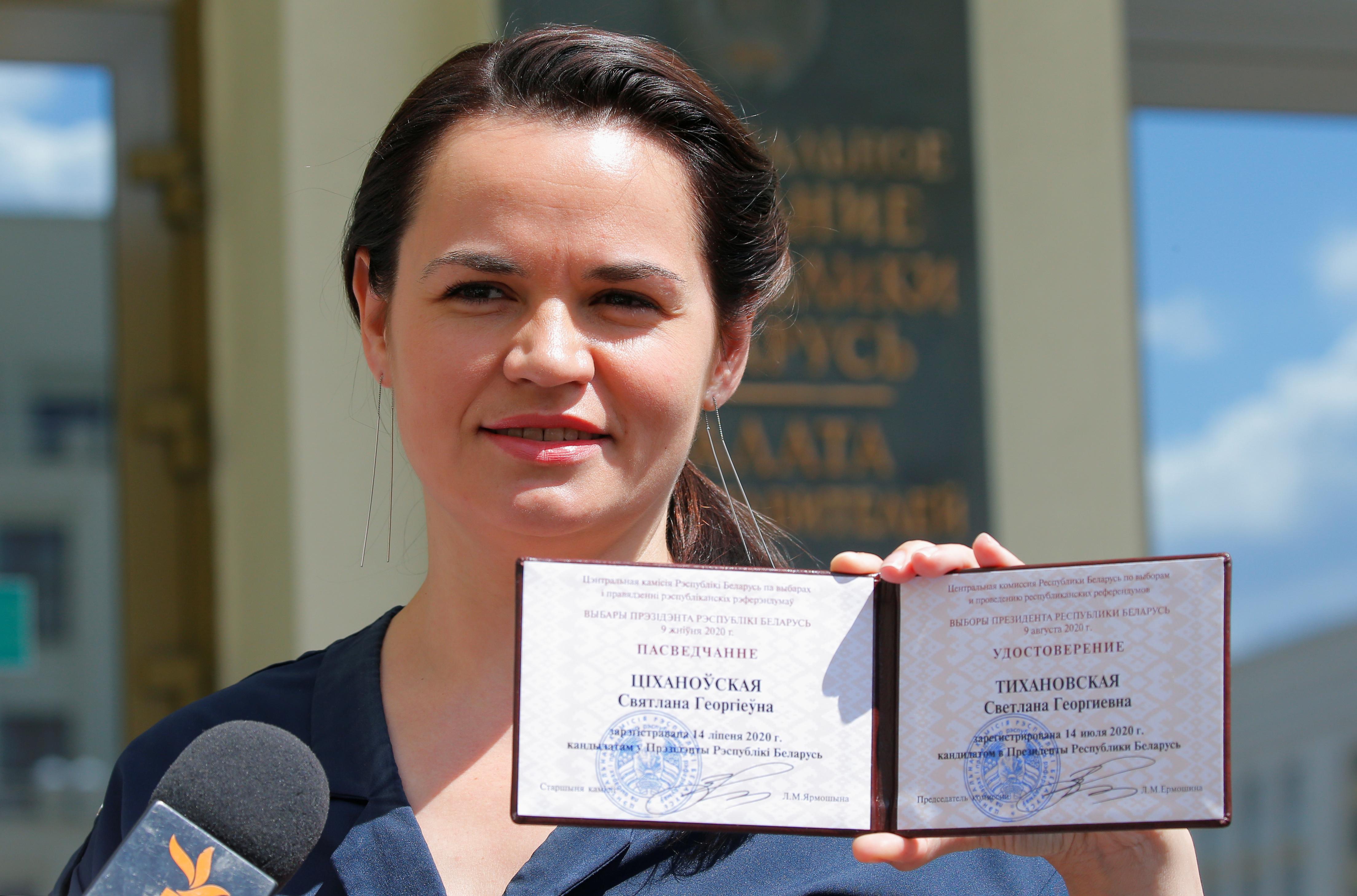Тихановская обвинила в похищении Колесниковой власти Белоруссии