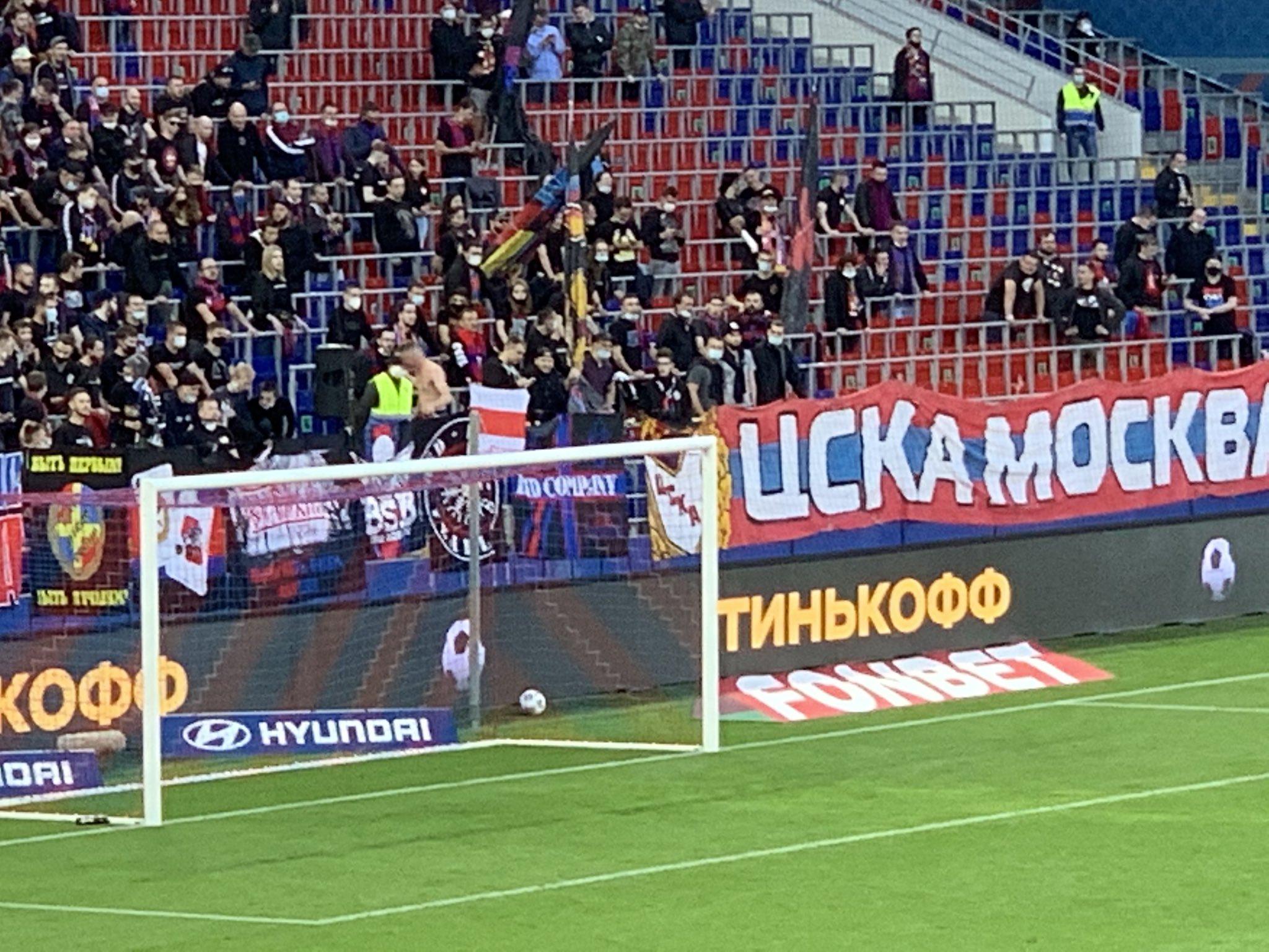 Фанату ЦСКА на год запретили посещать матчи за флаг белорусского протеста