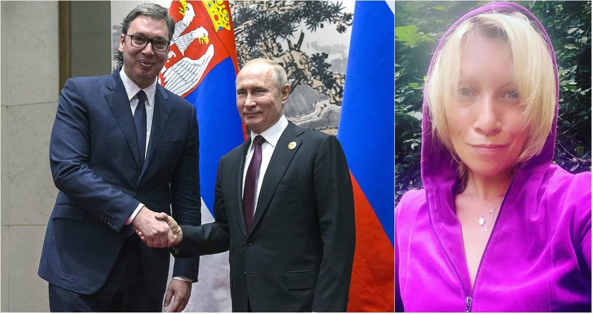 Путин лично извинился перед Вучичем за поведение Захаровой