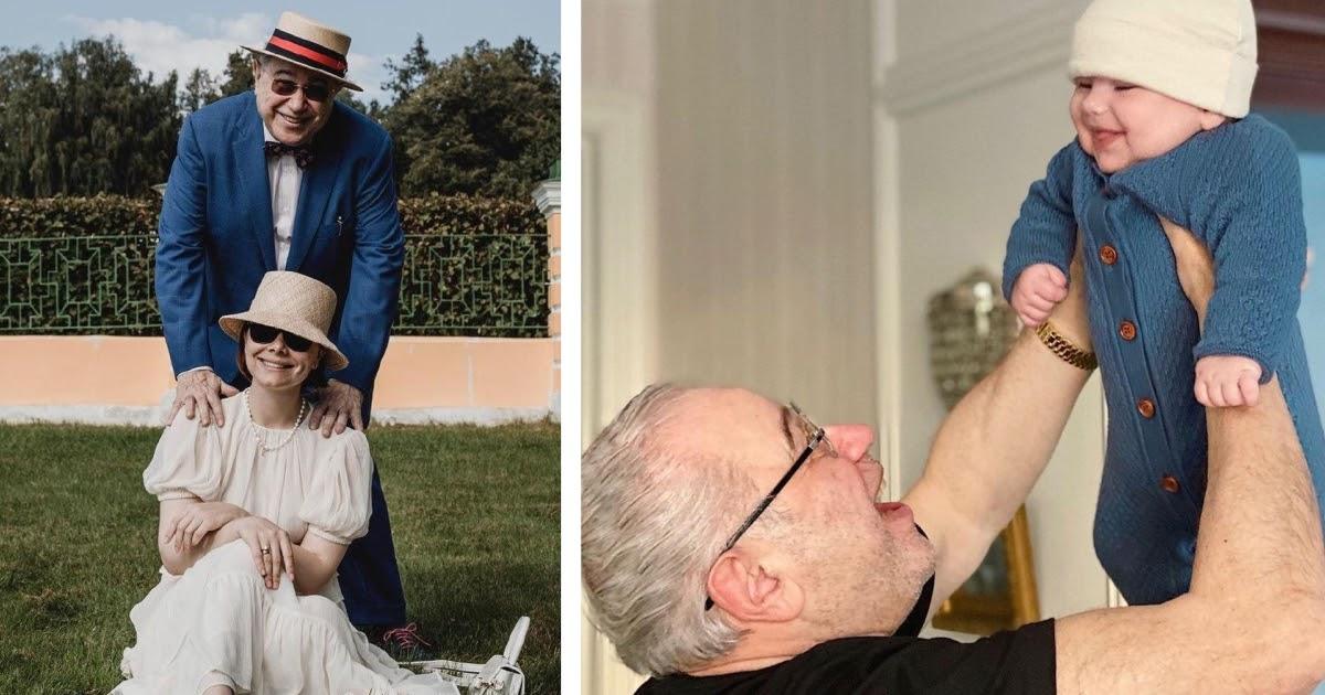 Петросян в день 75-летия показал сына от молодой жены