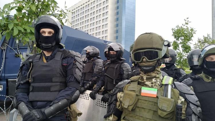 В центре Минска власти готовятся к несанкционированному митингу