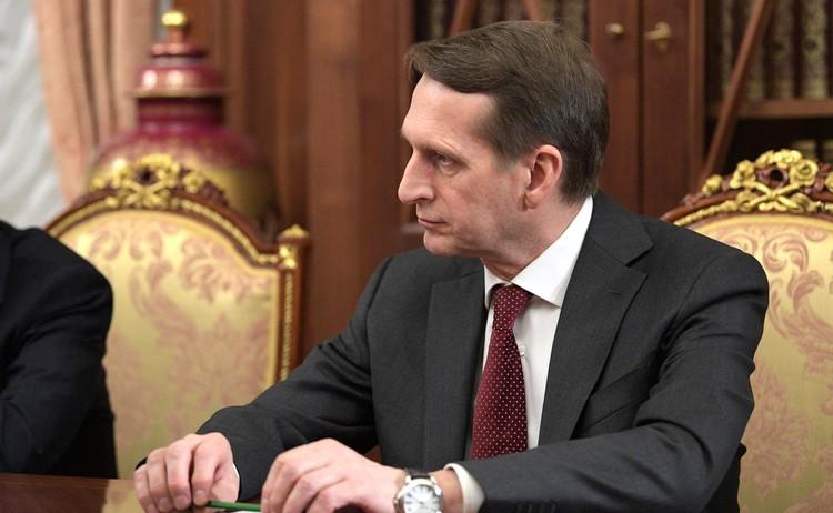 """Нарышкин назвал главную цель """"раскручивания дела Навального"""""""