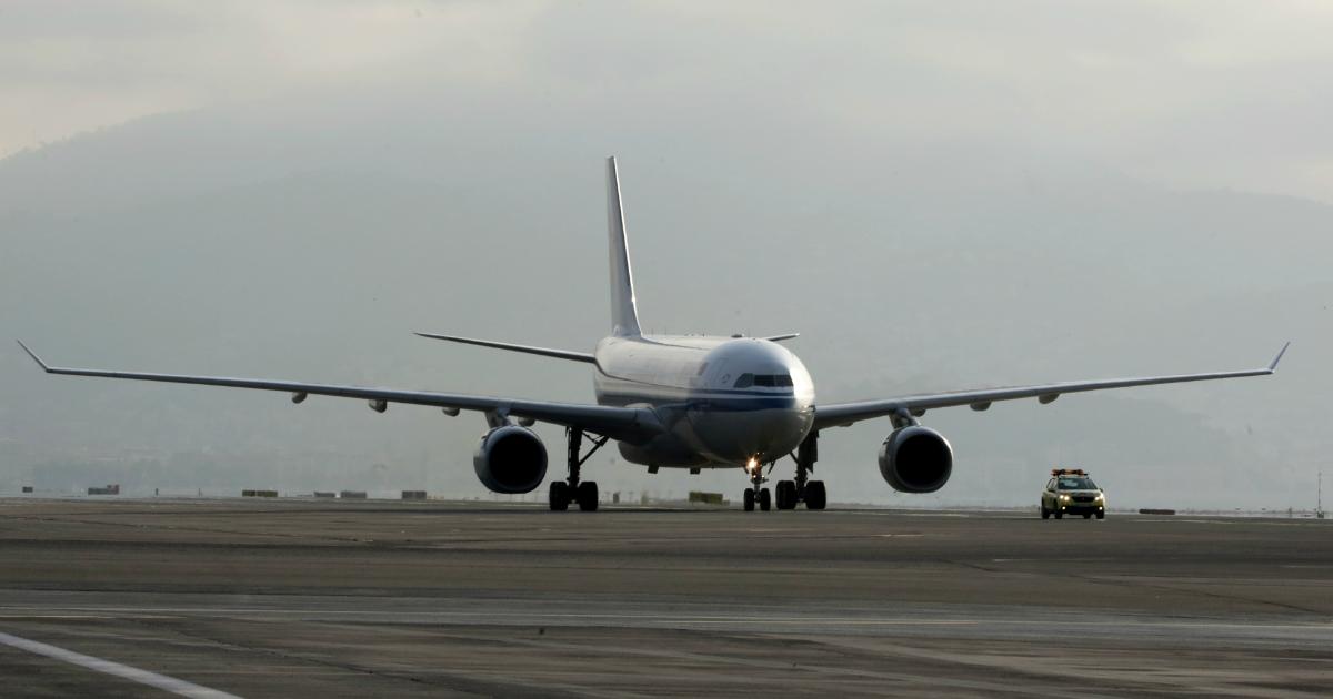В аэропорту Екатеринбурга самолет столкнулся с птицами