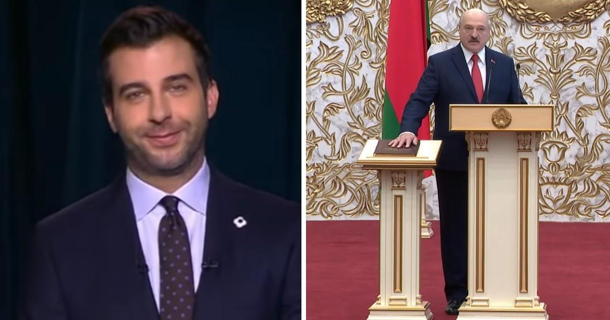 Ургант высмеял тайную инаугурацию Лукашенко с сотнями гостей
