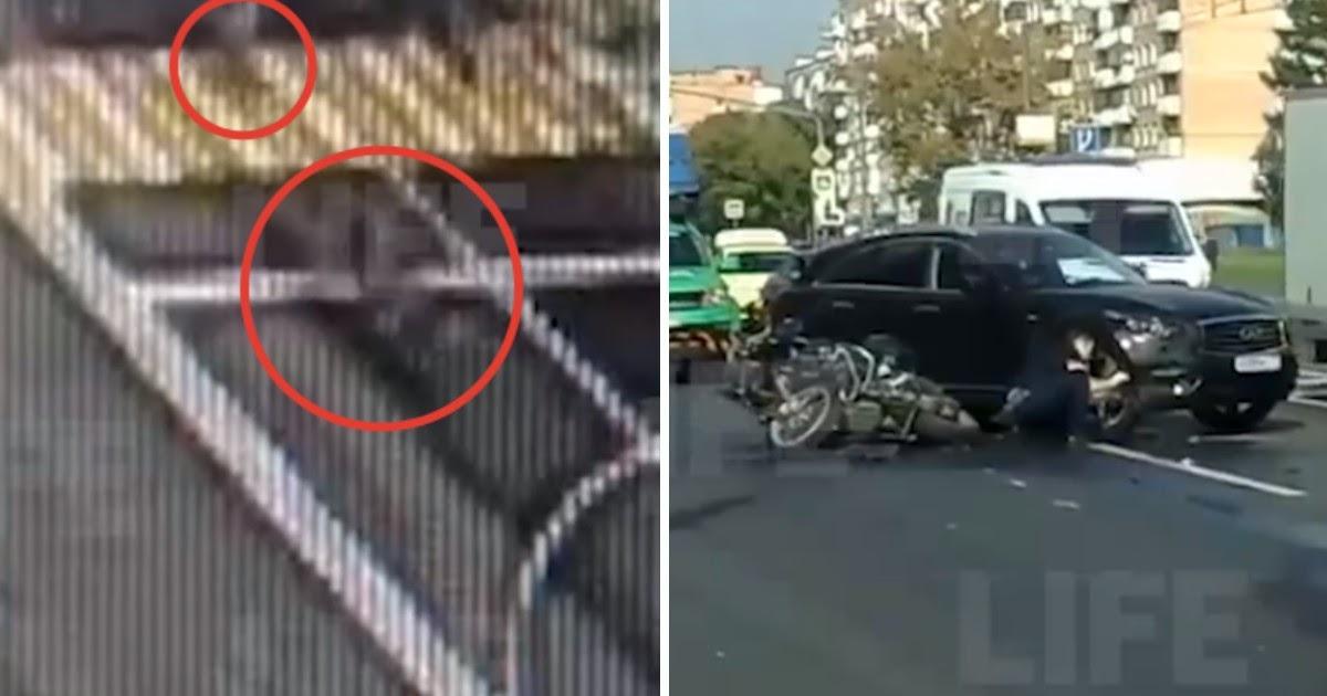 Мотоциклист в Москве снес на переходе ребенка с самокатом