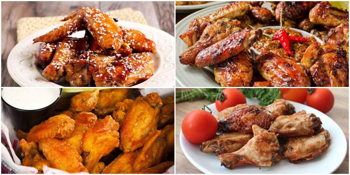 Подборка рецептов куриных крылышек