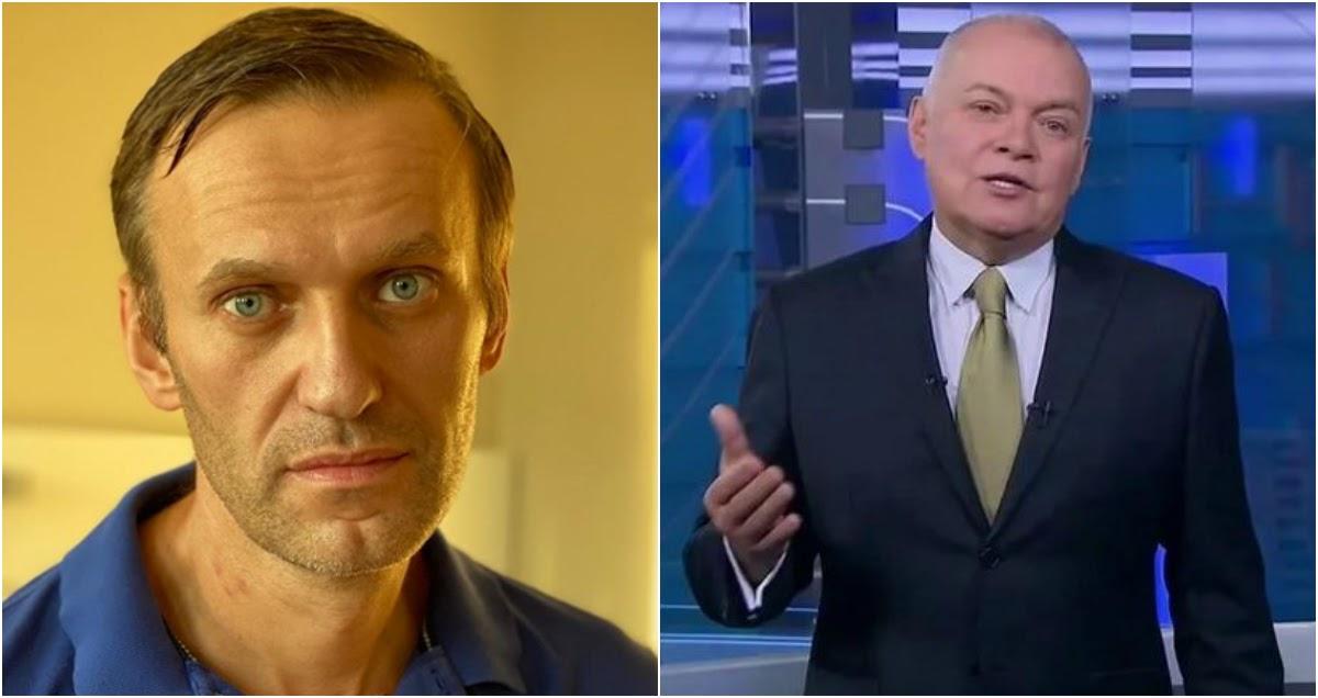 Киселев потребовал вернуть Навального в Россию и завести против него дело