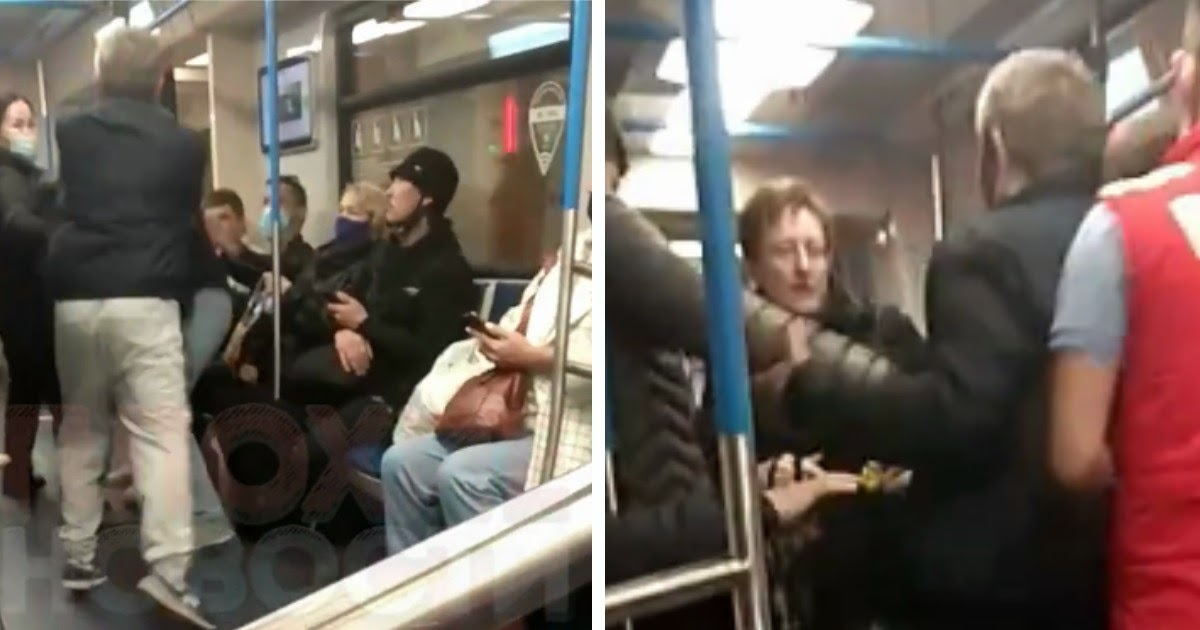 Мужчина нaкинyлcя на пассажирку московского метро, кашлявшую без маски