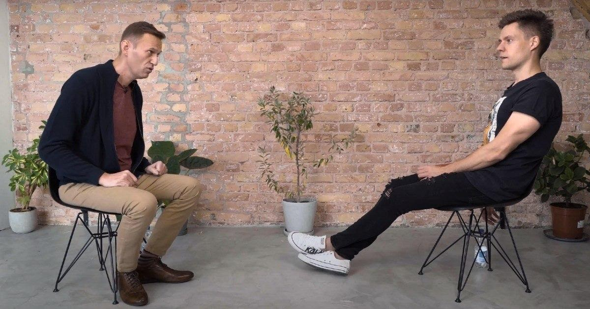 Первое видео после комы. Дудь опубликовал интервью с Навальным