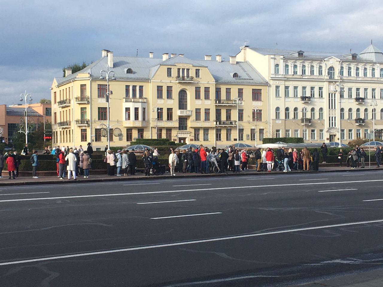 В Белоруссии на протестный марш вышли инвалиды