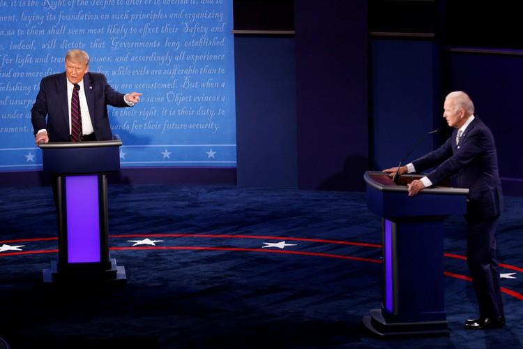 Встречу Байдена с избирателями посмотрели больше телезрителей, чем встречу Трампа