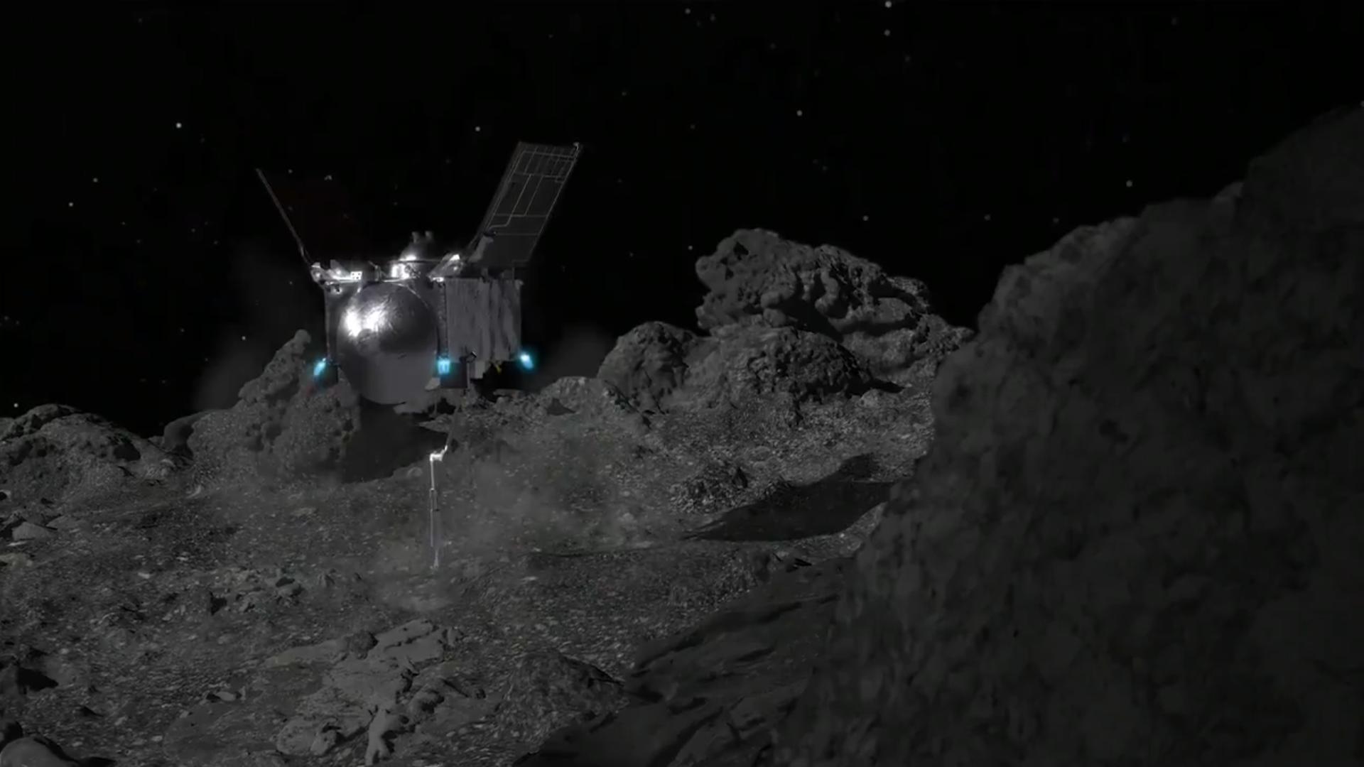 Зонд NASA зачерпнул грунт с пролетающего мимо астероида