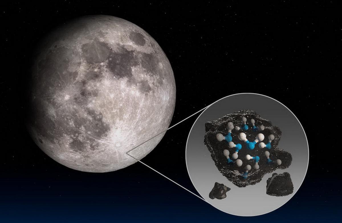 Обсерватория NASA нашла воду на освещаемой поверхности Луны