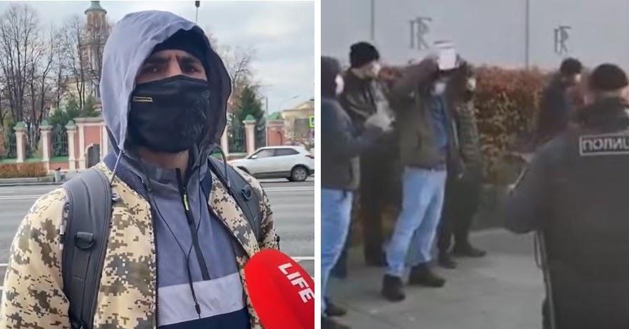 Мусульмане устроили акцию протеста у посольства Франции в Москве