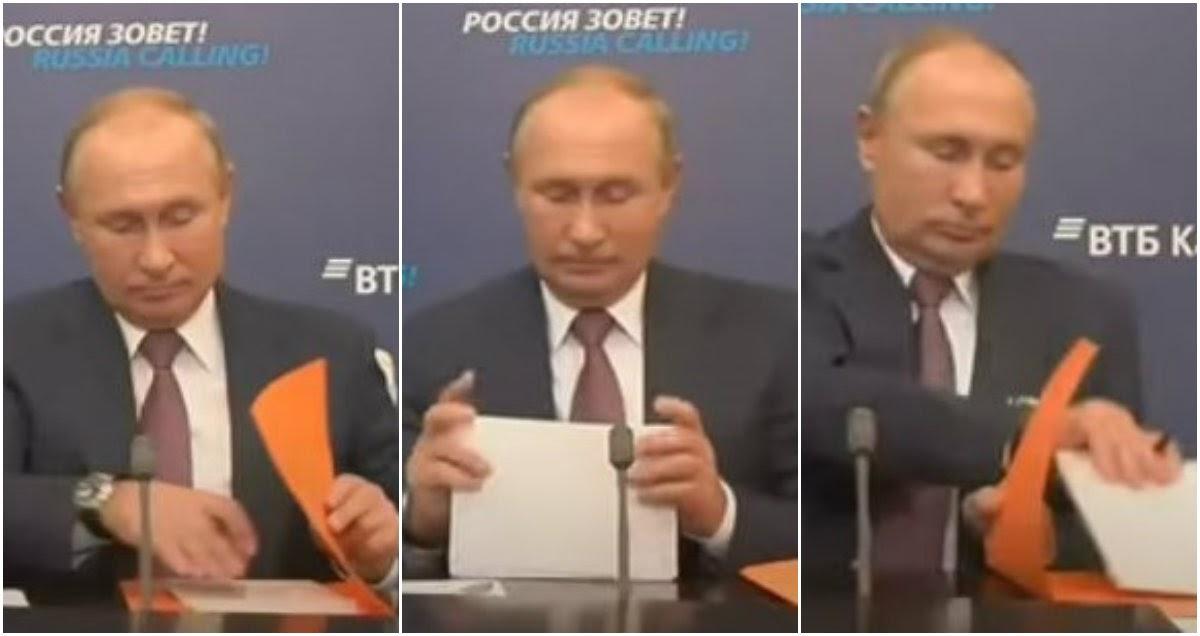 Путин и папка: поведение президента на совещании вызвало недоумение в Сети
