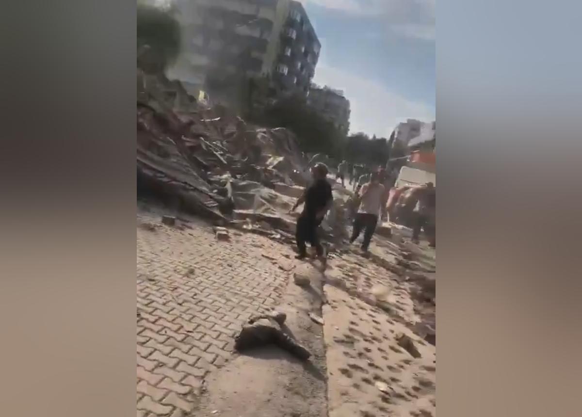 В турецком Измире произошло мощное землетрясение