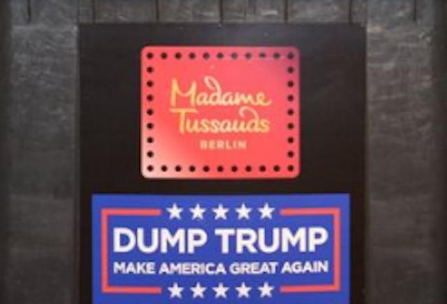 Музей мадам Тюссо в Берлине выставил фигуру Трампа в мусорном контейнере