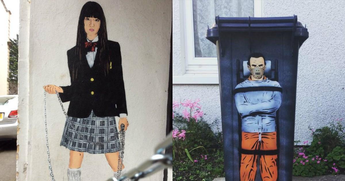 Фото По стопам Бэнкси: британский уличный художник делает серые стены чуть ярче