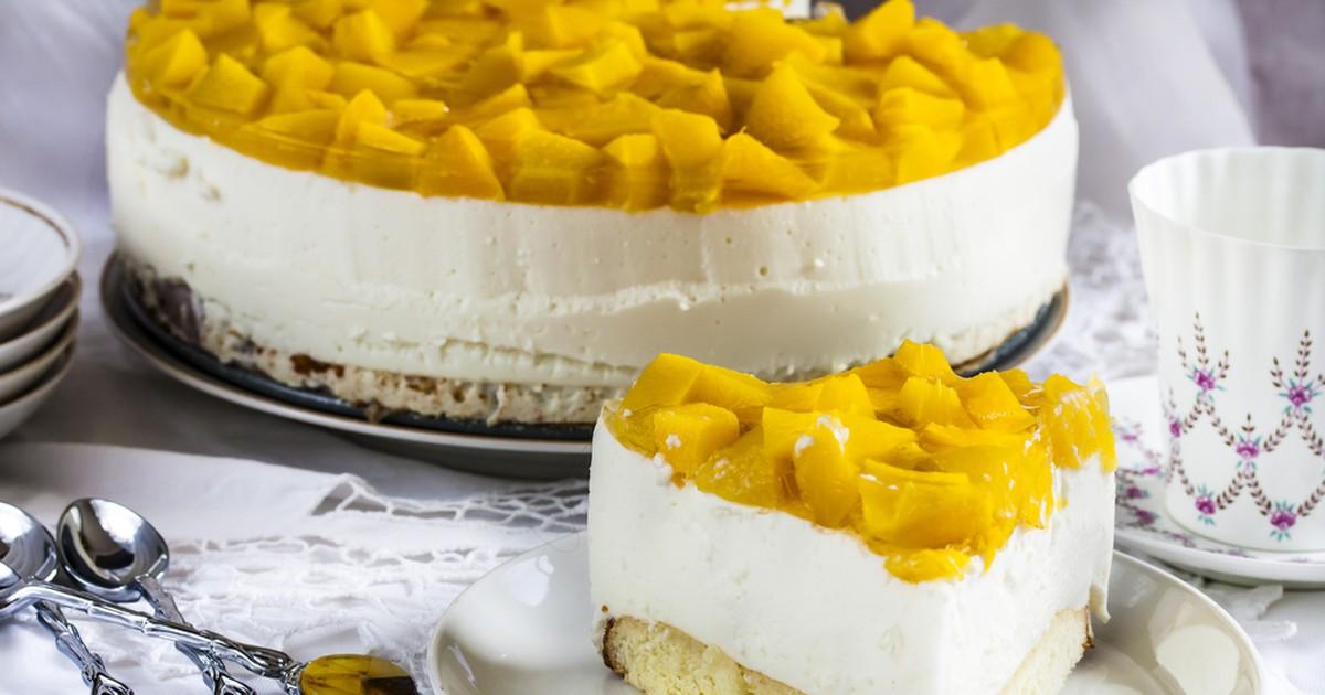 Фото Самый нежный в мире торт!!! Пышный бисквит с нежнейшим персиковым суфле.