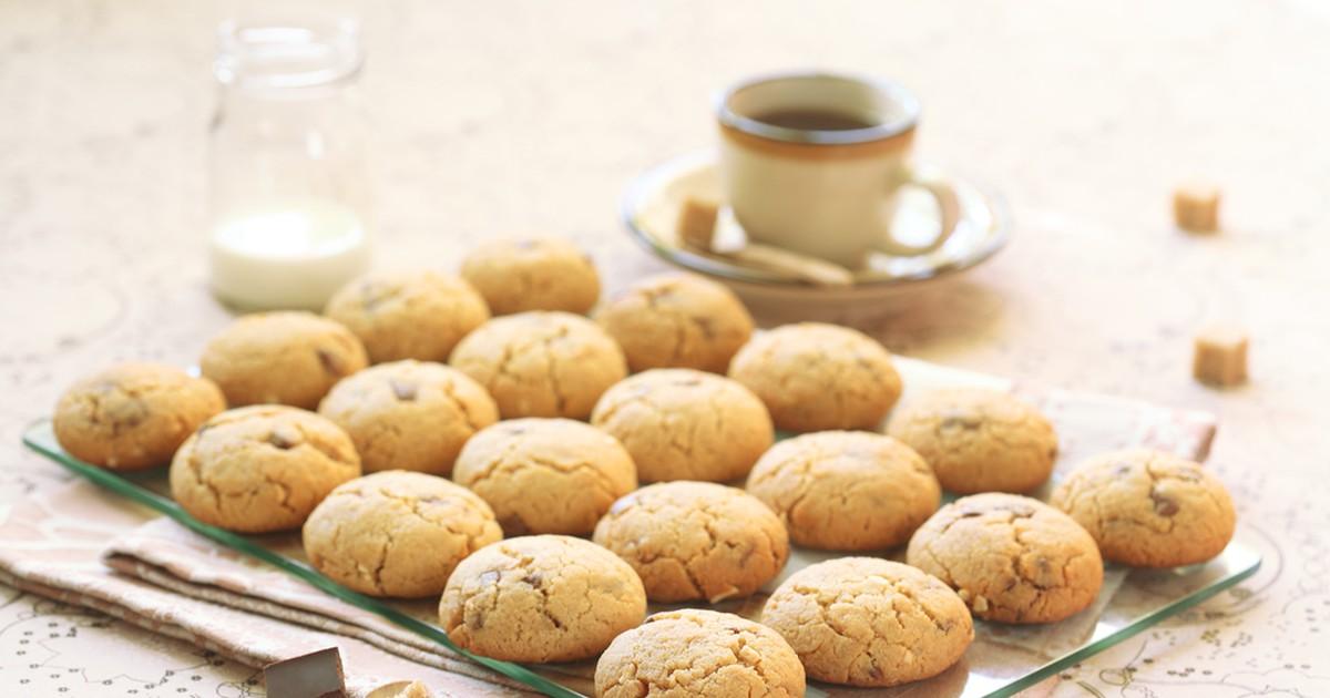 Фото Печенье с арахисовым маслом