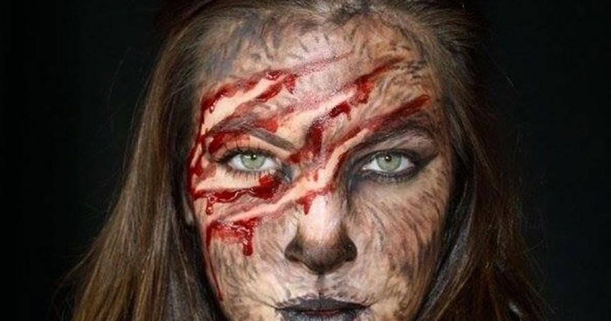 Фото 23 потрясающих способа нарядиться на Хеллоуин при помощи одного лишь грима
